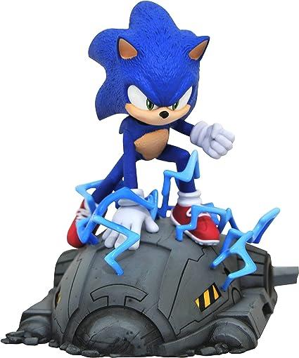 Amazon Com Diamond Select Toys Sonic Movie 1 6 Scale Statue Multicolor Toys Games