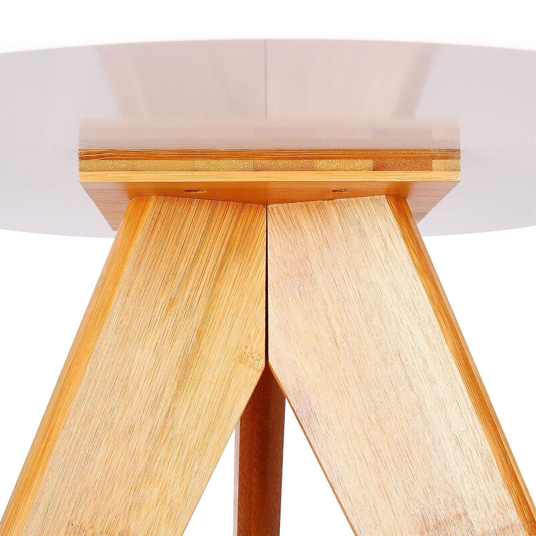 tavolini da Divano per caff/è con Gambe in Legno e bamb/ù Bianco tavolino Bassi da Salotto per Soggiorno E-starain Set di 2 tavolini di Tipo scandinavo