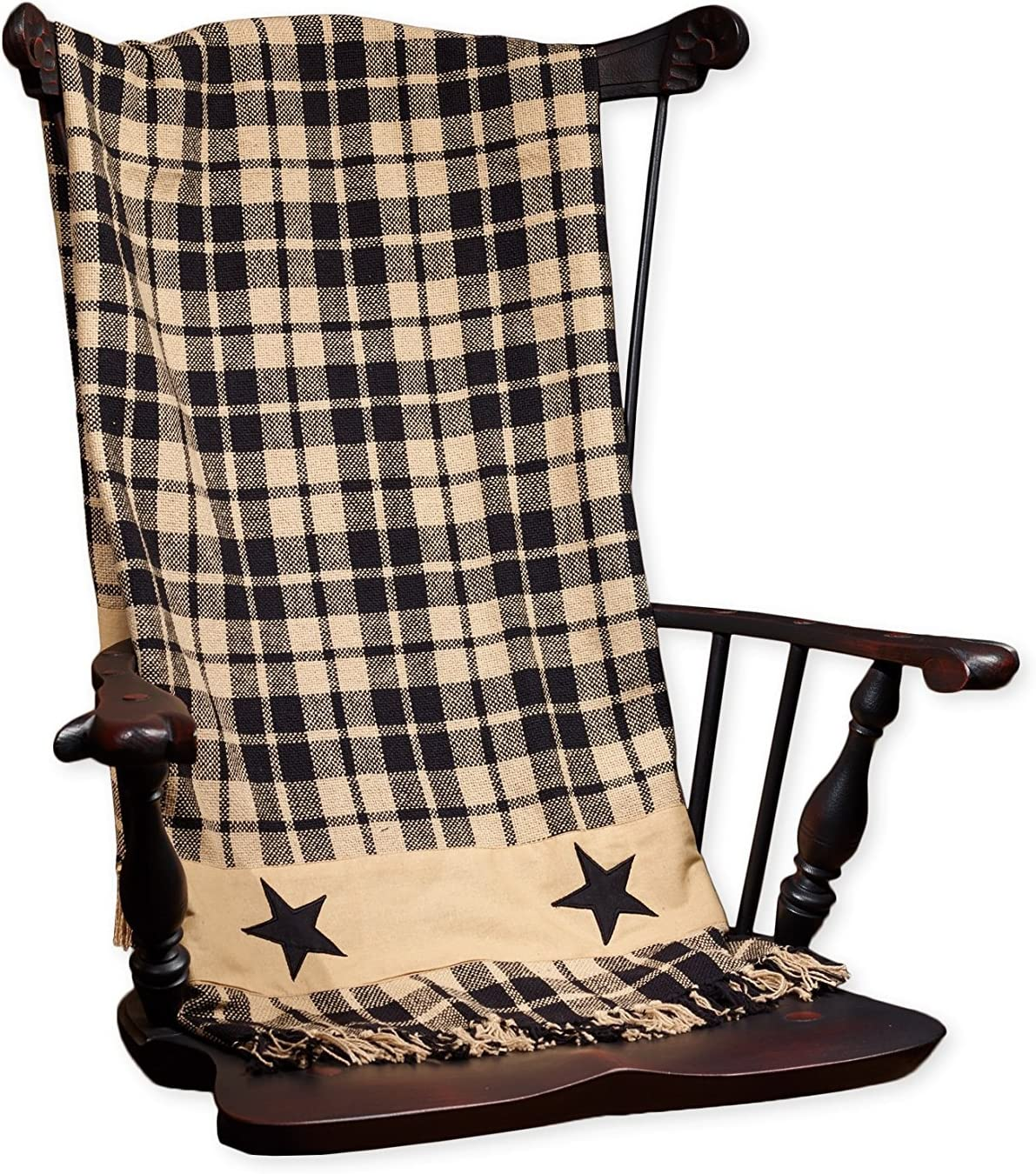 Black Farmhouse Star Throw, 50x60-Inch