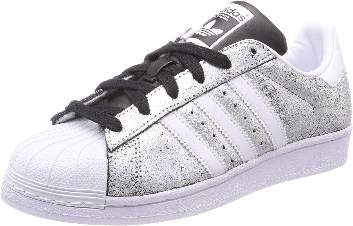 canal Perforar Bosque  Adidas Superstar W, Zapatillas de Deporte para Mujer, Plateado ...