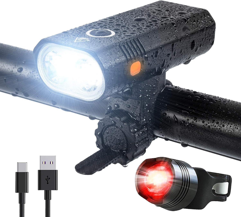 Linterna LED recargable de alta potencia 800 l/úmenes Mini linterna linterna compacta impermeable IP67 para acampar//senderismo//interior//actividades al aire libre bater/ía 18650 integrada 5 modos