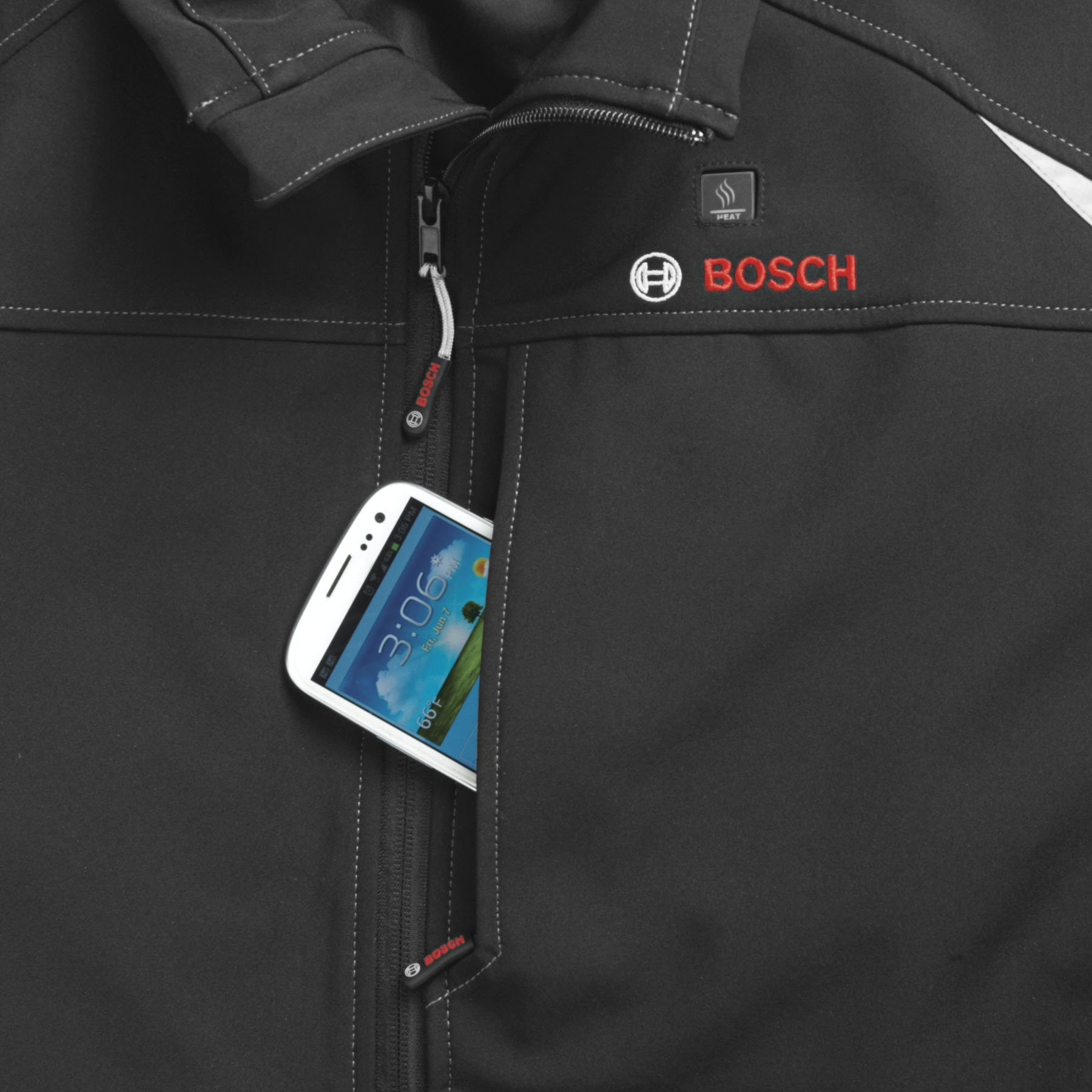 Bosch PSJ120L-102 Men's 12-volt Max Lithium-Ion Soft Shell Heated Jacket Kit with 2.0Ah Battery, Charger and Holster by Bosch (Image #7)