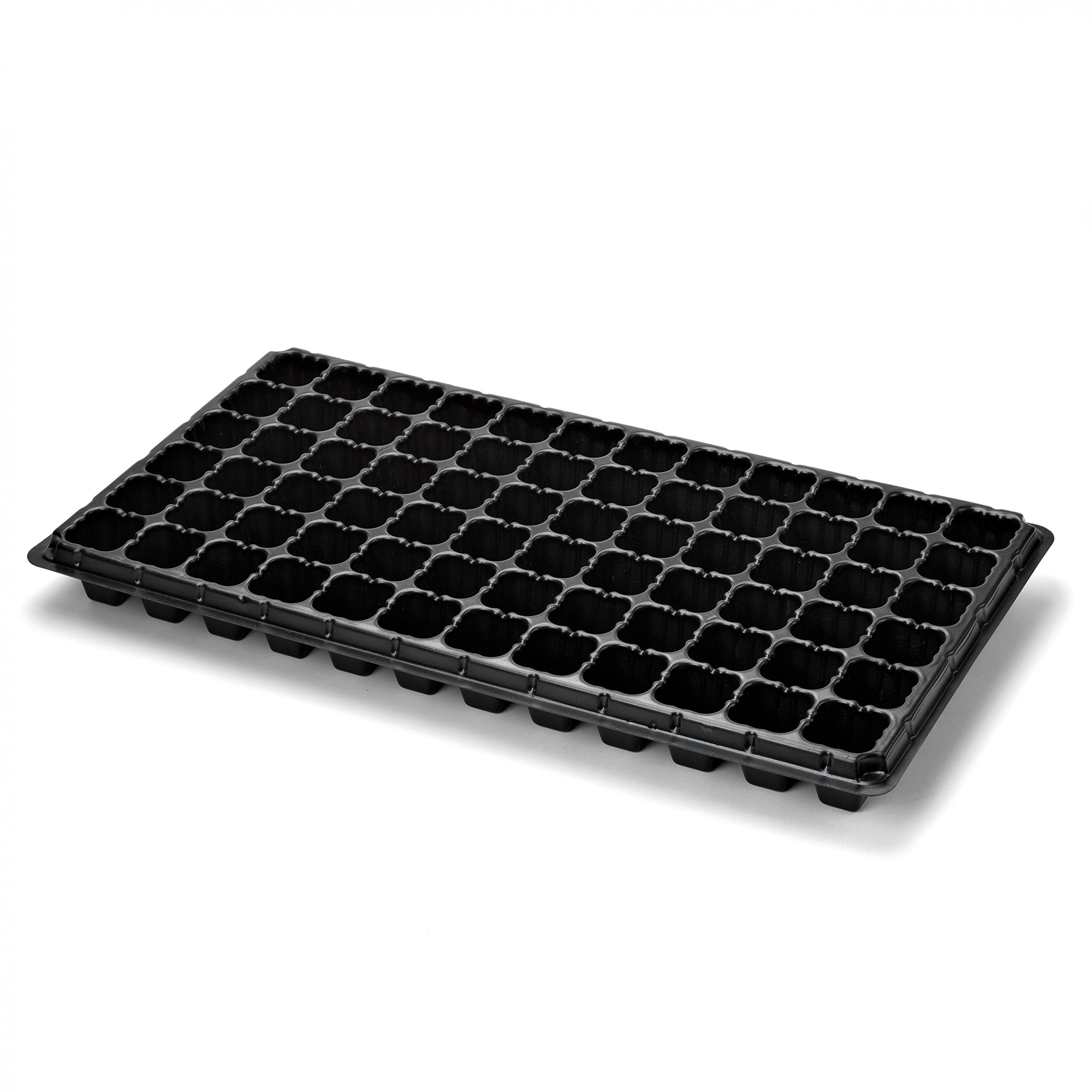 72 Cell Seed Starter Tray - 60 Pack - Extra Strength Starting Trays for Planting Seedlings, Propagation, Germination Plug Station by Bootstrap Farmer