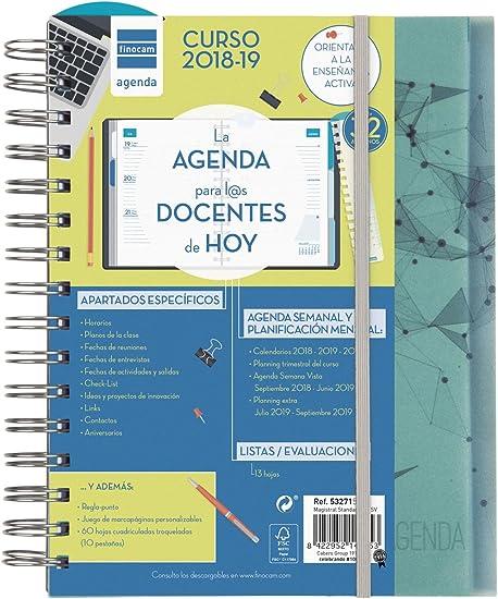 Finocam Magistral Docente - Agenda 2018-2019 semana vista apaisada español, 155 x 215 mm, nodos: Amazon.es: Oficina y papelería