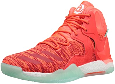 low priced ffc86 ca9fb adidas Men s D Rose 7 Primeknit Basketball Shoe, Solar Red White Ice Green
