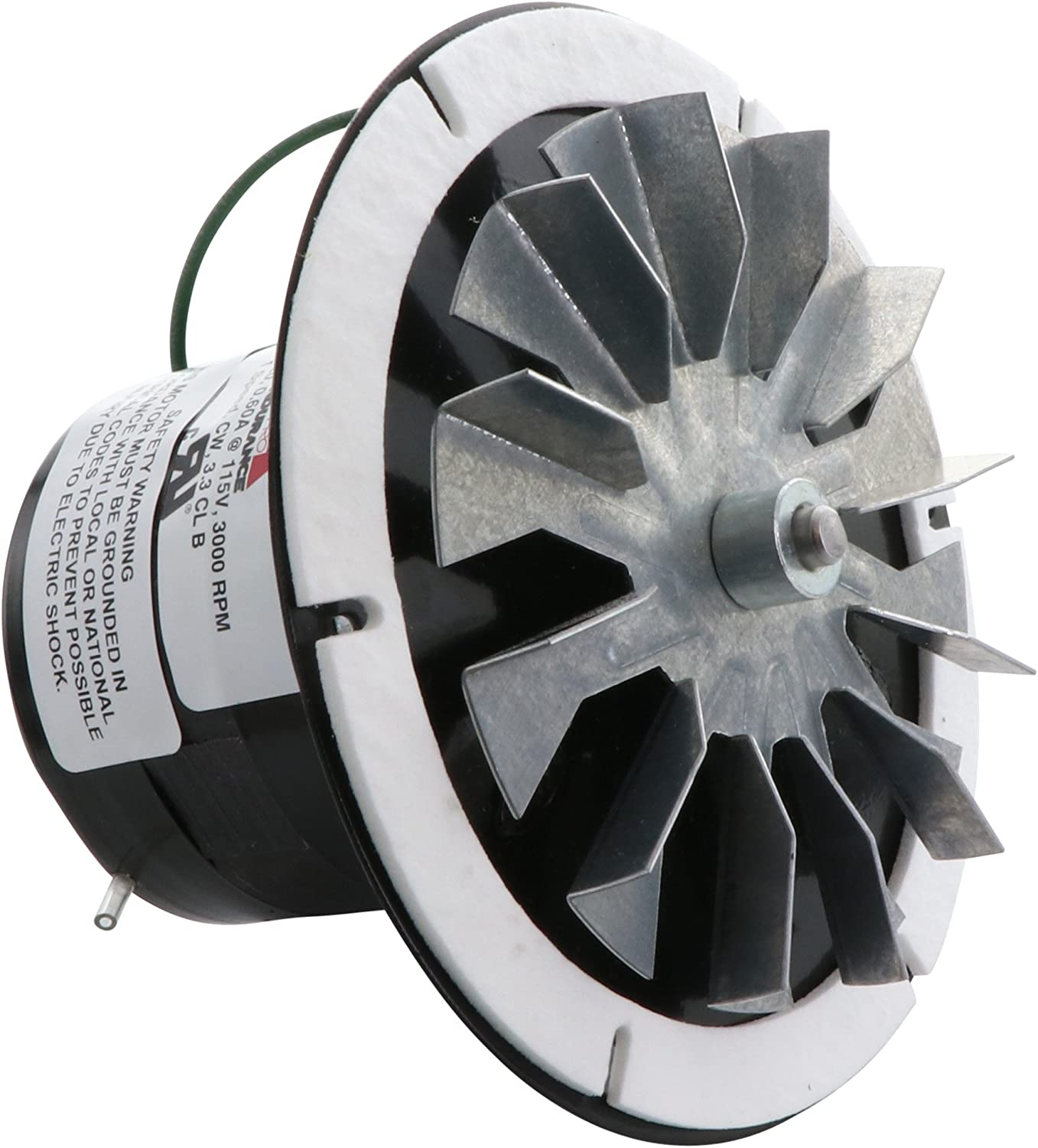 Rotom HB-RBM120 Pellet Stove Blower Motor Replacement 1/60 hp, 3000 rpm, 0.3 Amp., 115V