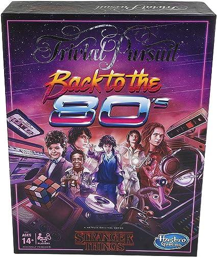 Stranger Things Hasbro Gaming Back to The 80s Trivia Game: Amazon.es: Juguetes y juegos