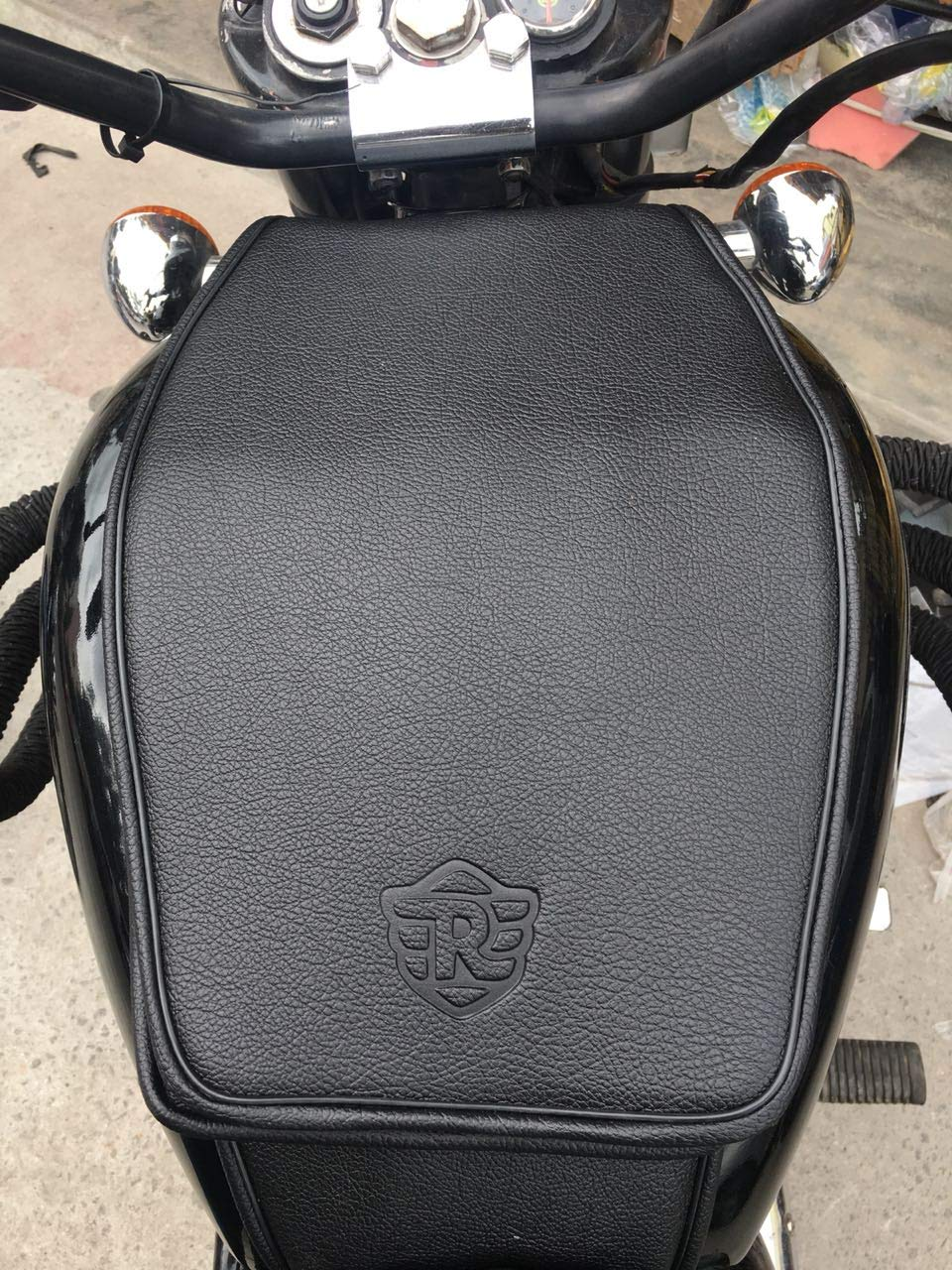 Sahara Royal Enfield Classic 350//500 Black Tank cover with LOGO
