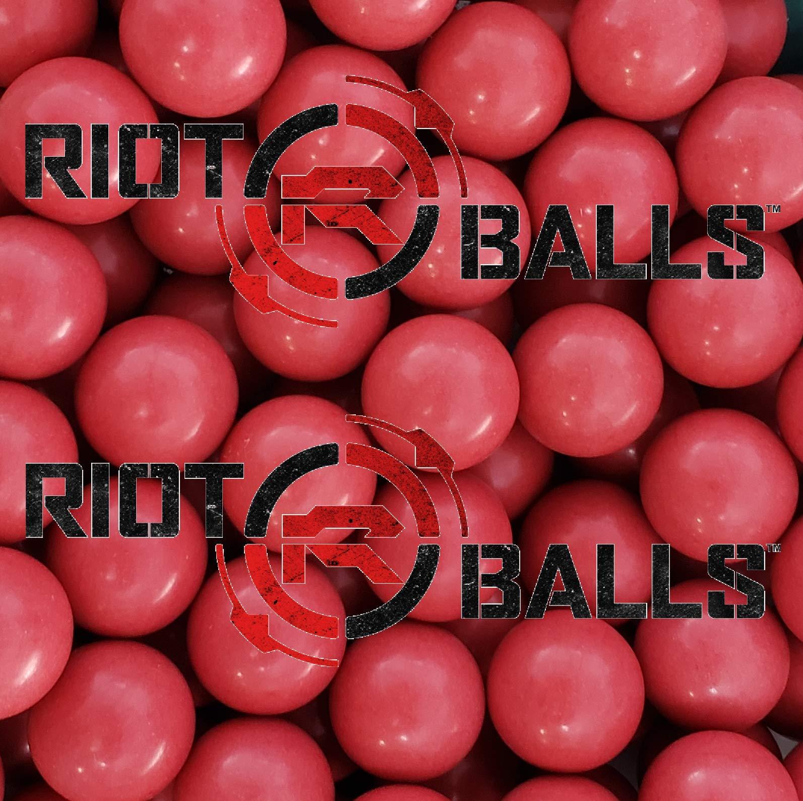 100 X 0.68 Cal. PVC/Nylon Riot Balls Self Defense Less Lethal Practice Paintball by Riot Balls