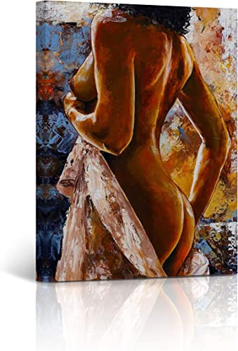 Buy4Wall Canvas Print Nude Art Sexy Woman Back Nude Painting Naked Women Booty Sexy Bedroom Decor Wall Art Home Decor Stretched and Framed