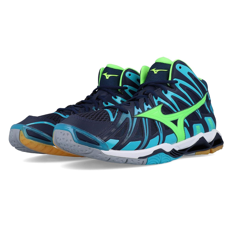 Mizuno Herren Wave Tornado X2 Mid Volleyballschuhe Turquoise//vert Gecko//bleu Marine
