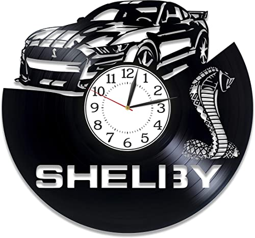 Kovides Shelby Mustang Birthday Gift Idea Pony Car Original Home Decor Car Vinyl Clock 12 Inch