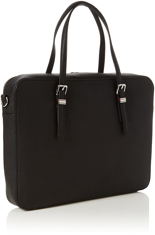 Tommy Hilfiger Honey Computer Bag, Cartables femme, (Black), 6x37x28 cm (B x H x T)