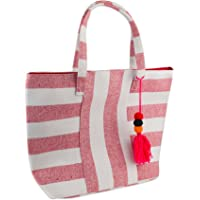 DII - Bolsa de playa, Boho Stripe Red, 1, 1