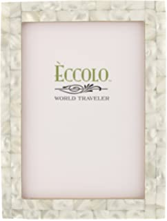 eccolo naturals frame 4 by 6 inch mother of pearl white