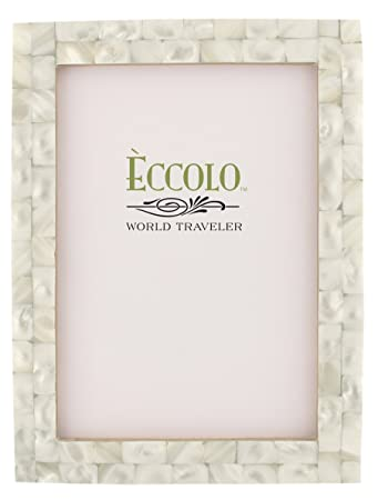 eccolo naturals frame 5 by 7 inch mother of pearl white - Mother Of Pearl Picture Frame