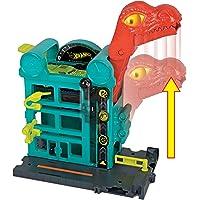 Mattel Hot Wheels-City Dino-Ataque al Garaje, Parking Juguetes