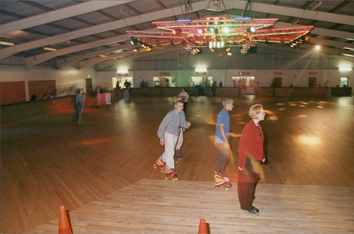 Amazon Com Vintage Photo Of Roller Skating Rink Entertainment Collectibles