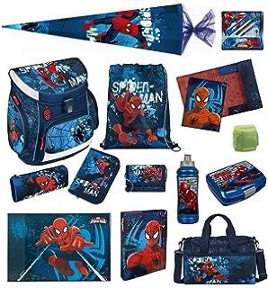 Spiderman Schulranzen Set 19tlg Scooli Campus Up blau Sporttasche Marvel Held