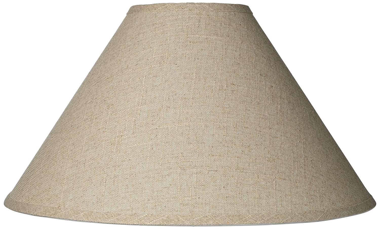 Burlap Empire Lamp Shade Rustic Fabric with Harp 6x19x12 (Spider) - Brentwood