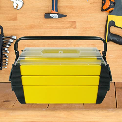 Stalwart 75-3082 Hawk Deluxe Steel and Plastic Tool Box 18 by 80.25 by 80.75-Inch