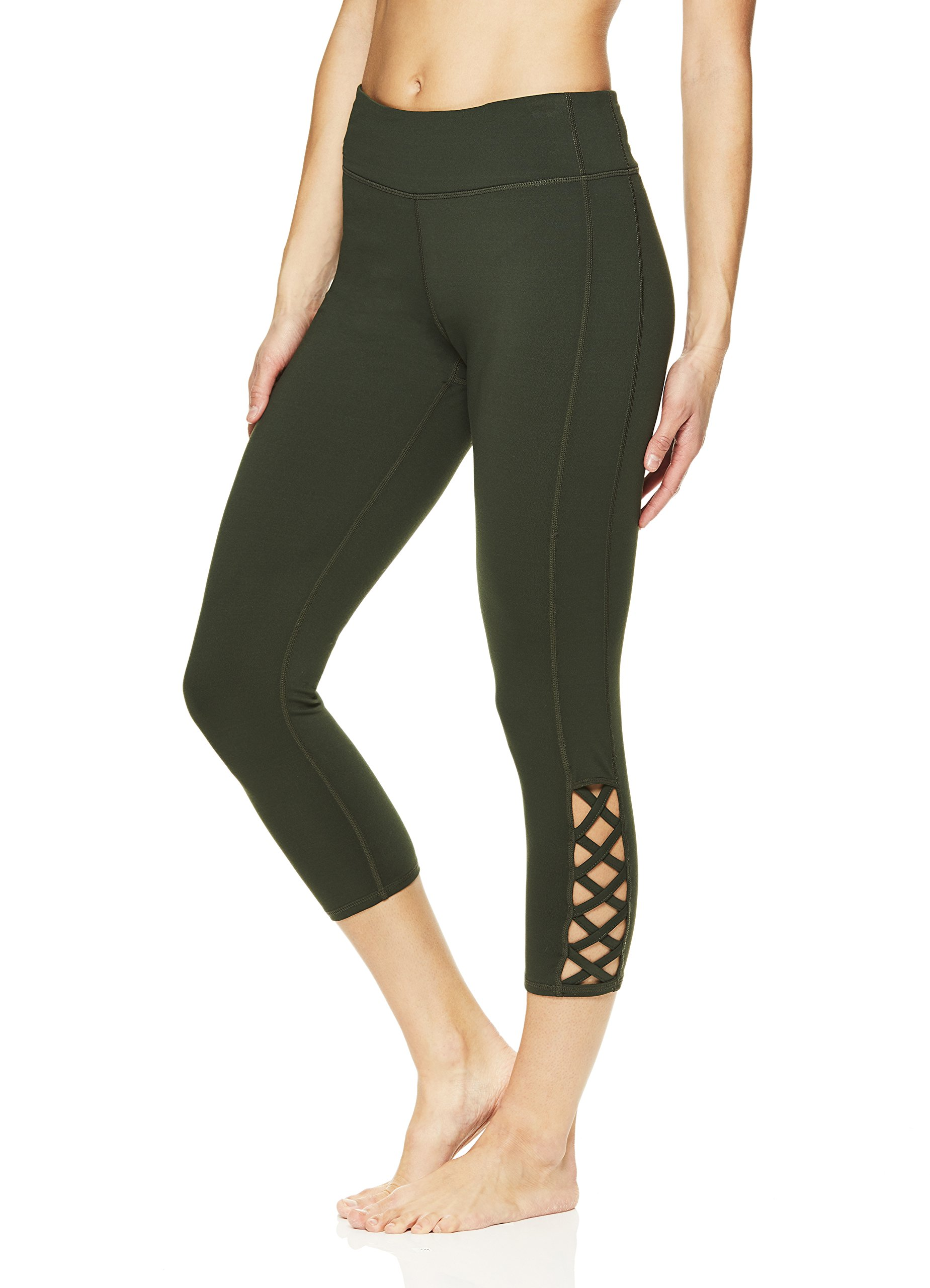 Gaiam Women's Capri Yoga Pants - Performance Spandex Compression Legging - Dufflebag, 3X by Gaiam (Image #2)