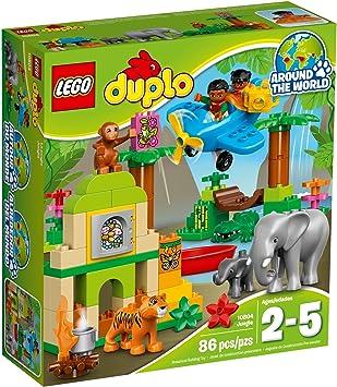 LEGO DUPLO - Jungla, Juego de Construcción con Muchos Animales ...