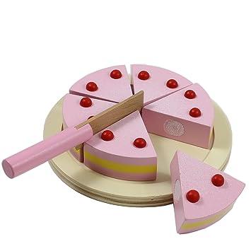GroBartig Smart Planet Schneide Torte Aus Holz   Für Z.B. Kinderladen Kinder Küche    Holzspielzeug Kuchen