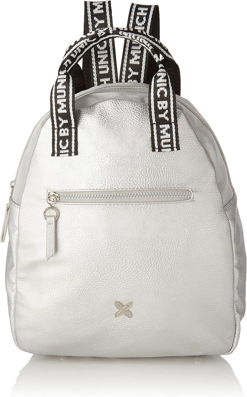Munich Backpack Tulle, Bolso mochila para Mujer, Plateado (Silver), 15.5x30x35 cm (W x H x L)