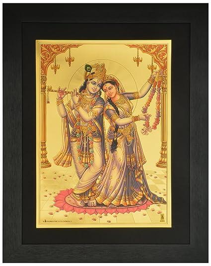 Buy Lord Radha Krishna Photo Frame ( 42 cm x 33 cm x 1.5 cm ) / Wall ...