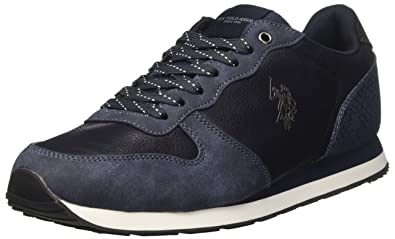 WILYS4181W7/YH1, Sneakers Basses Homme - Gris - Gris (Dark Grey DKGR), 44 EU EUU.S.Polo Association