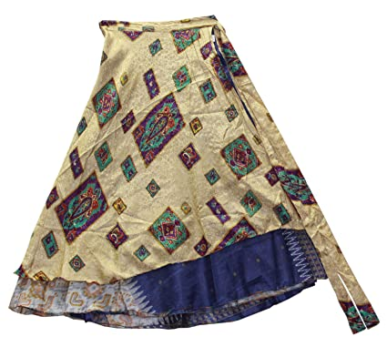 odishabazaar Reversible Dos Capa Seda Wrap Sari Vestido Pareo ...