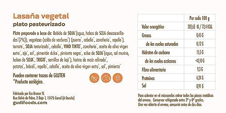 GUDI 6-Pack Degustación Eco 1500 g (1 Arroz con pollo + 1 Ensaladilla rusa + 1 Lasaña vegetal + 1 Arroz con leche de almendras + 1 Flan de huevo y ...