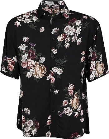 Camisa Siksilk S/S Prestige Floral Resort Black Hombre ...