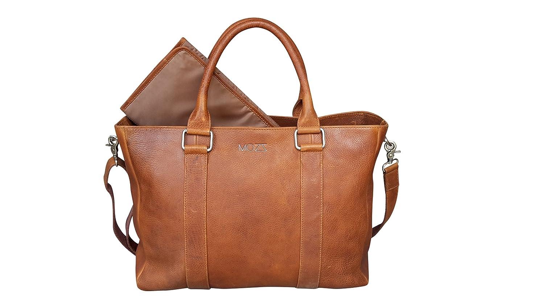 Baby Changing Bag Lederwindeltasche Luiertas, Verzorgingstas, Nappy Bag, Mommy Bag (Leather, Mozz 131PKI760.77_ S MOZZ BAGS