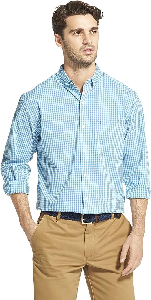 IZOD Mens Slim Fit Premium Essentials Long Sleeve Button Down Stripe Shirt