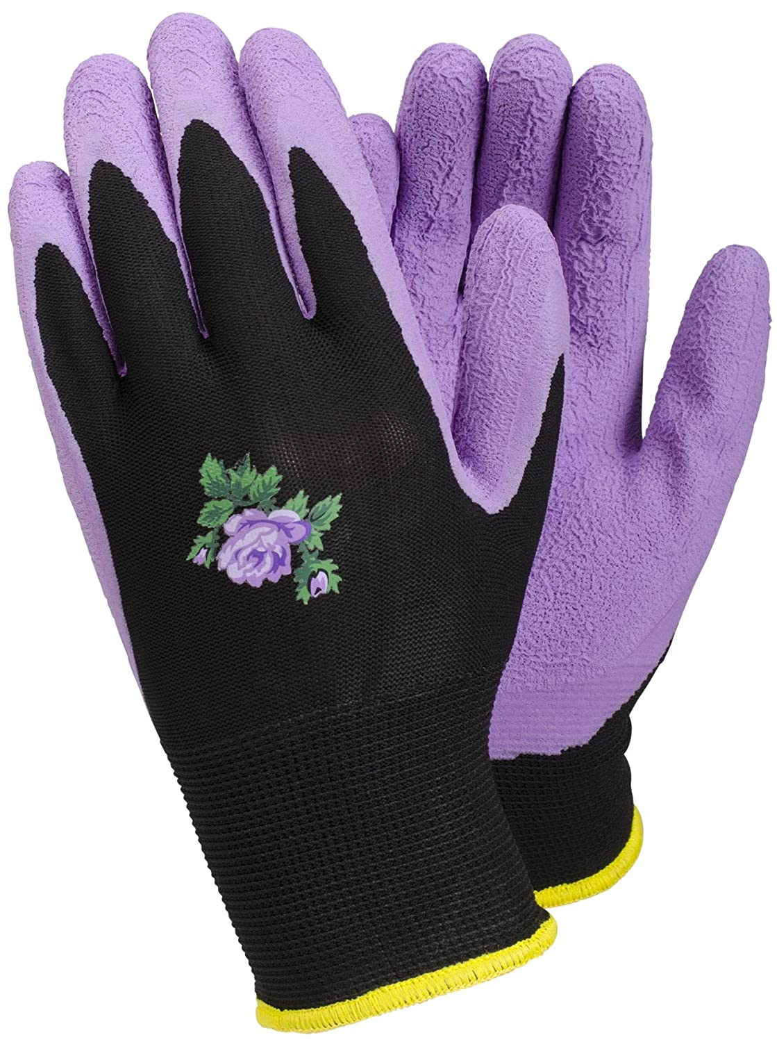 TEGERA [90068 Ladies Womens Purple Gardening Gloves Latex Water Repellent Palm Size 6 (X-Small)