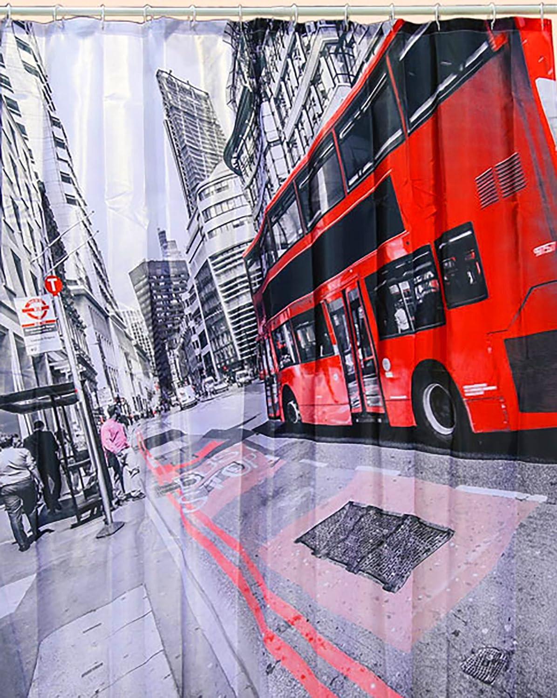 Tenda da Doccia London//Inghilterra//Great Britain con 12 Occhielli 100/% Poliestere Kamaca in Bellissimo Regalo