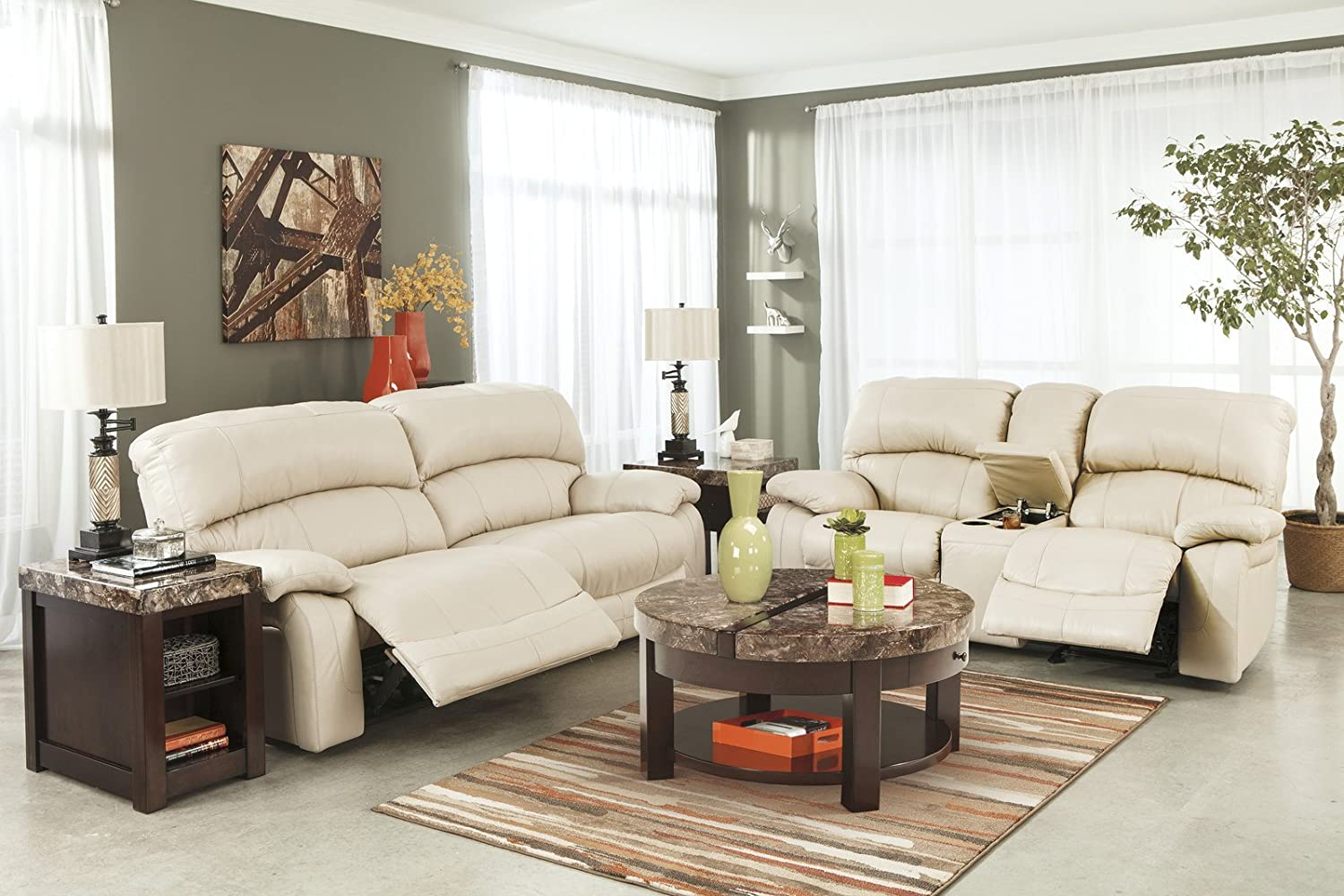 Cream Colored Leather Reclining Sofa Functionalities Net ~ Cream Leather Reclining Sofa