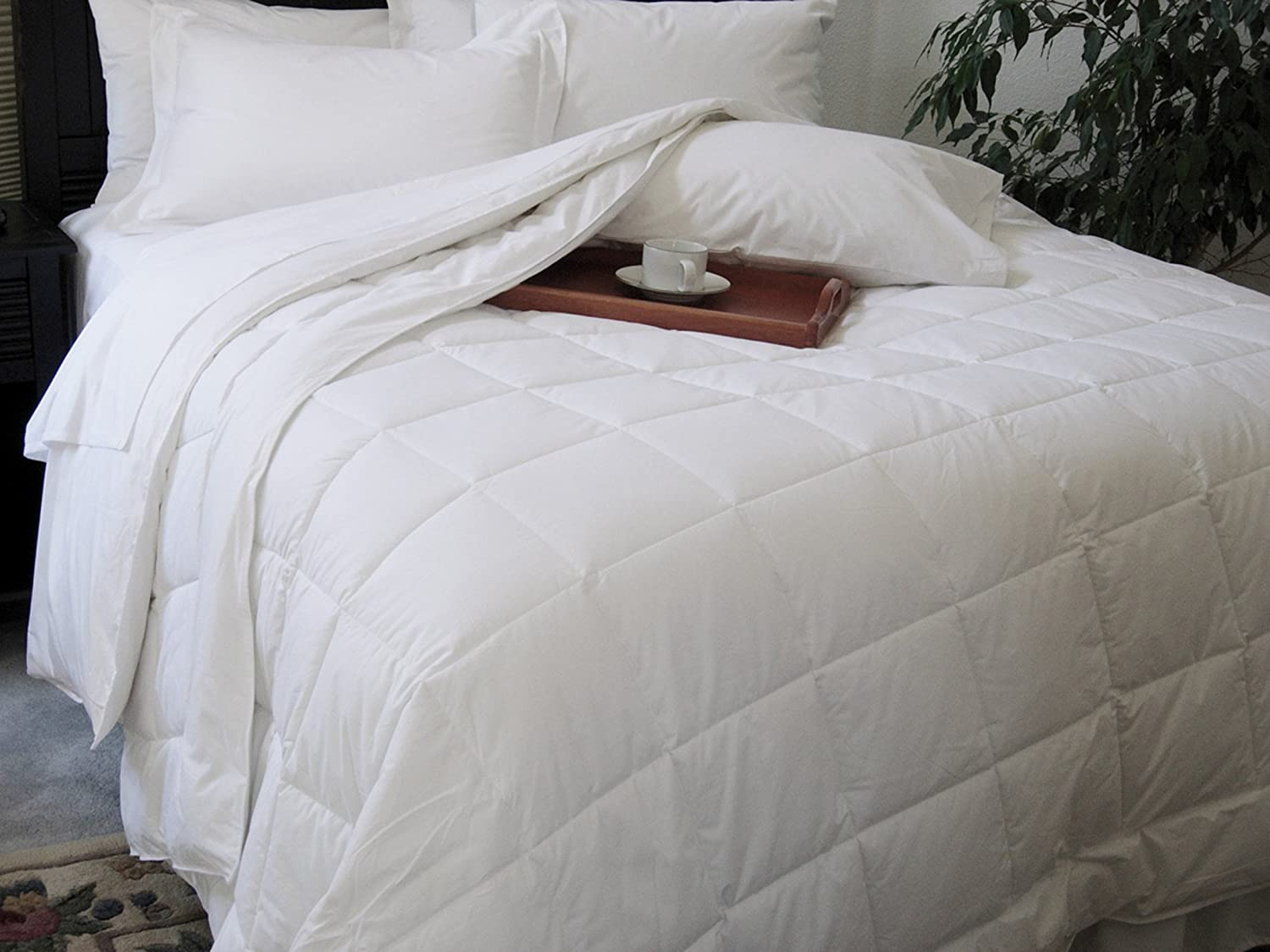 Natural Comfort Classic White Down Alternative Comforter or Blanket Year Round Filled, Full DIC001-Full
