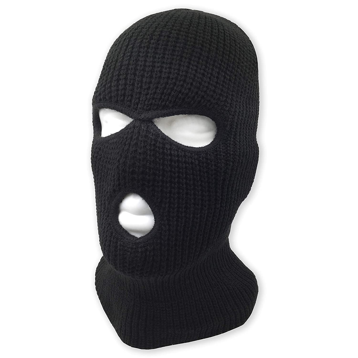 3 Hole Beanie Face Mask Ski Warm Double Thermal Knitted Men and Women