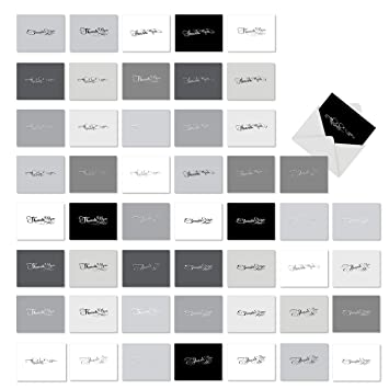 Amazon 50 Shades Of Thanks 50 Assorted Blank Thank You
