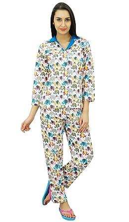 Bimba Button-Down Shirt with Pajama Pants Night Wear Set Lounge Wear Sleep  Shirt a7af94065