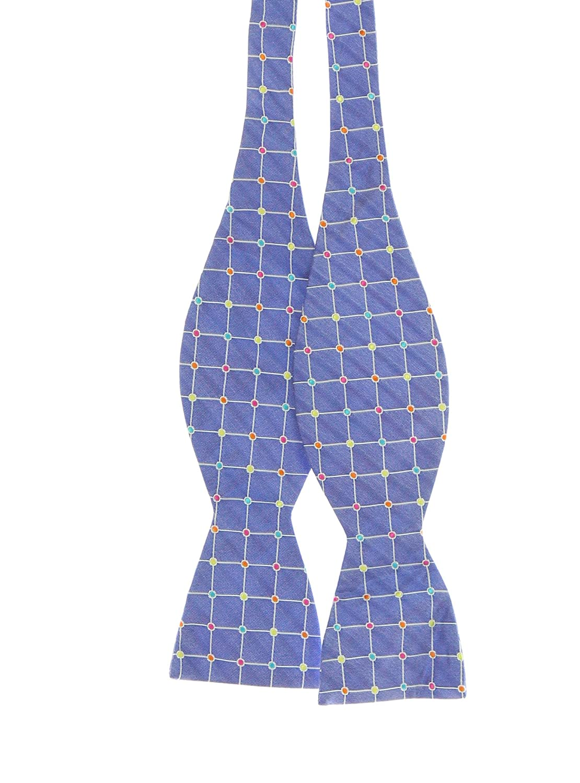 Countess Mara Mens Dot Grid Self Tie Bow Tie