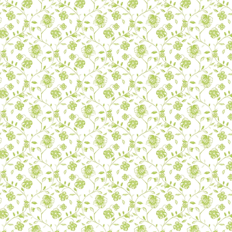 38X38 ROSE E TULIPANI R15430050F Mayflower Green 20 Tovaglioli Fiori