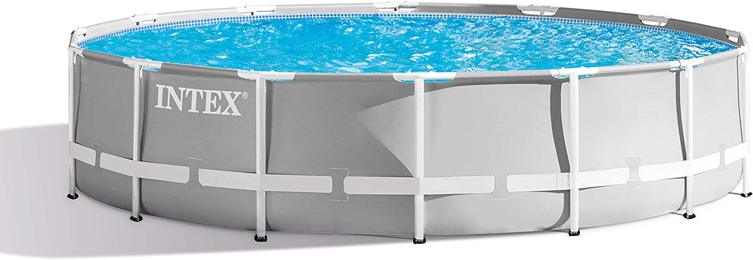 Intex 14ft X 42in Prism Frame Pool Set with Filter Pump, Ladder, Ground Cloth & Pool Cover