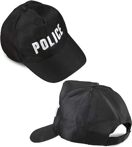 WIDMANN 03606 Policía Gorra Ajustable ? Negro: Amazon.es: Juguetes y juegos