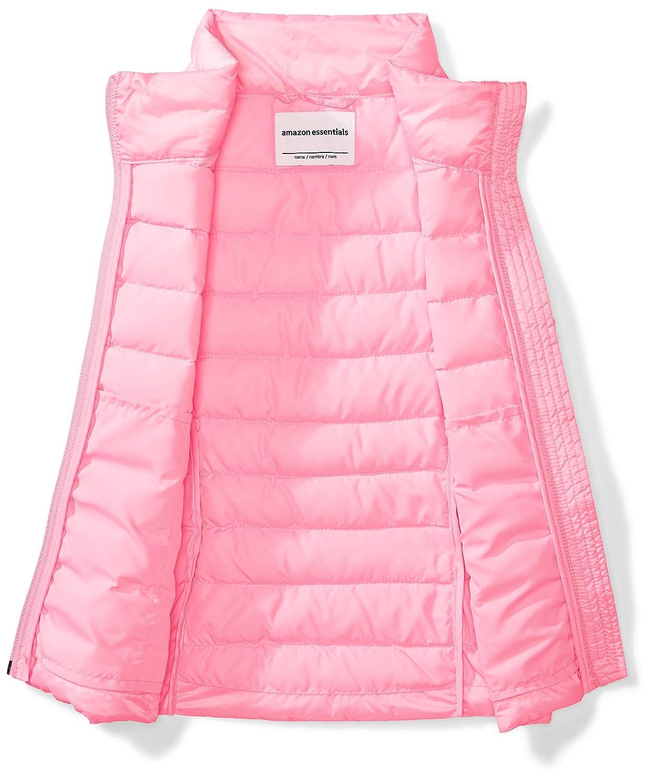 Essentials Girls Lightweight Water-Resistant Packable Puffer Vest