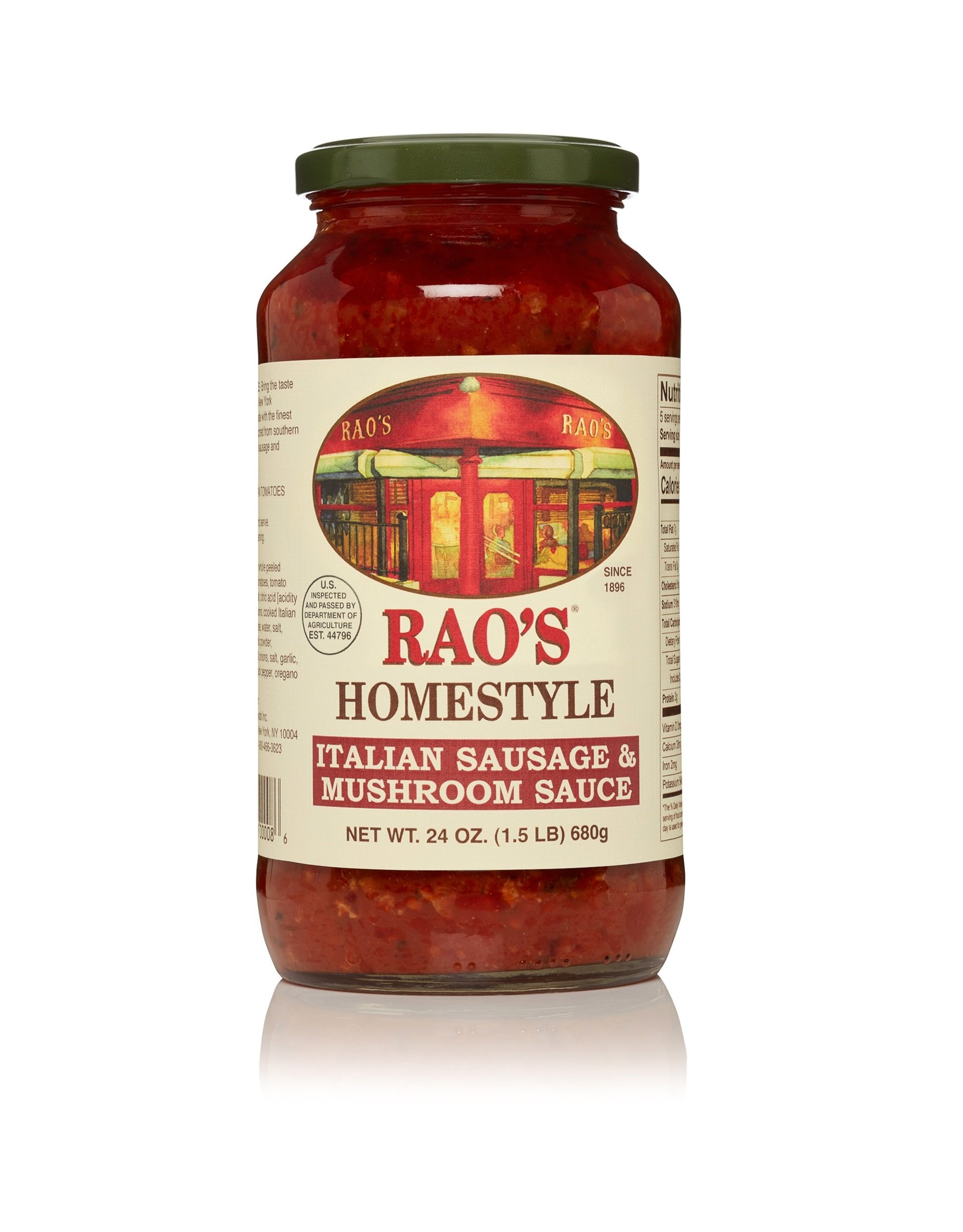 Rao's Specialty Food Italian Pasta Sauce - Sausage And Mushroom - 24 Ounces