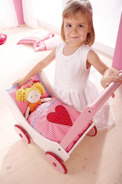 Amazon.com: Haba – Carrito para muñeca corazones – Muñeca ...